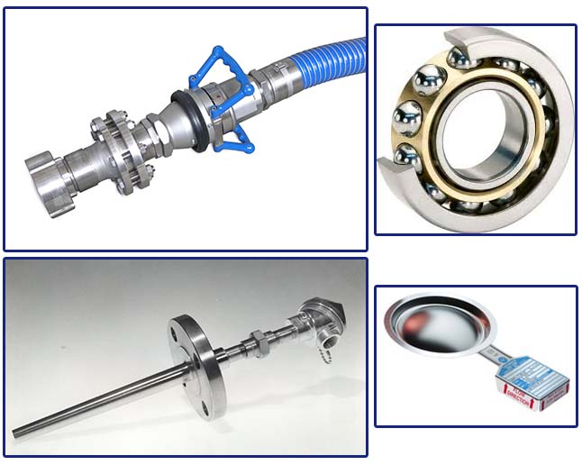 Chemical Hose, Bearings, Thermocouple, and Rupture Disc